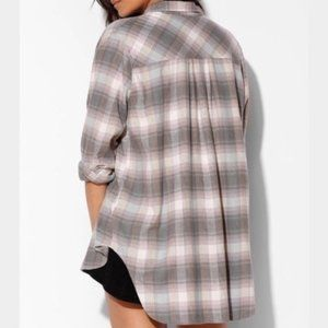 Urban Outfitters BDG Oversized Grey Flannel Shirt